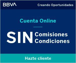 invertir en cuenta corriente sin comisiones online bbva