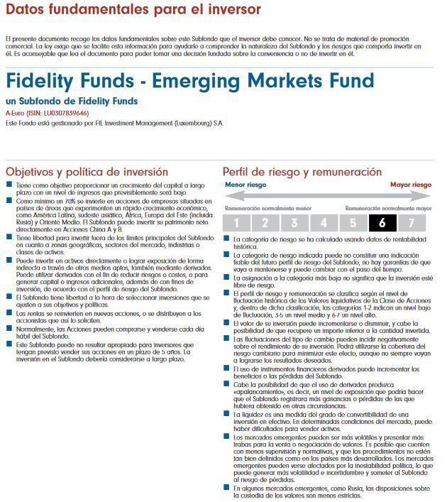 mejores fondos renta variable europea 2018 fidelity emerging markets
