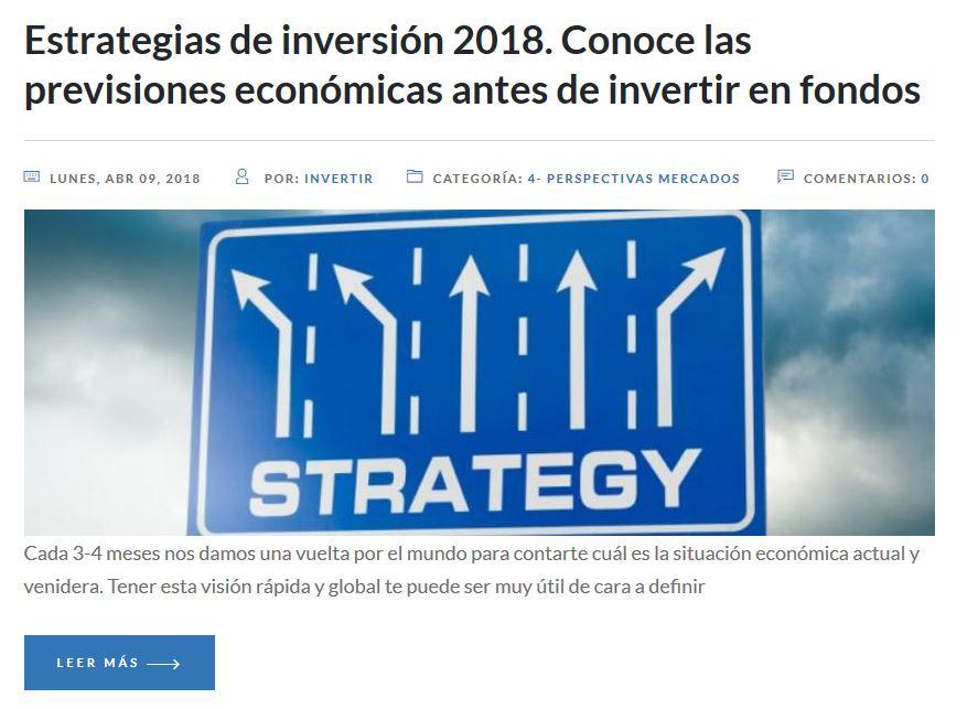 estrategias de inversion en 2018, donde invertir