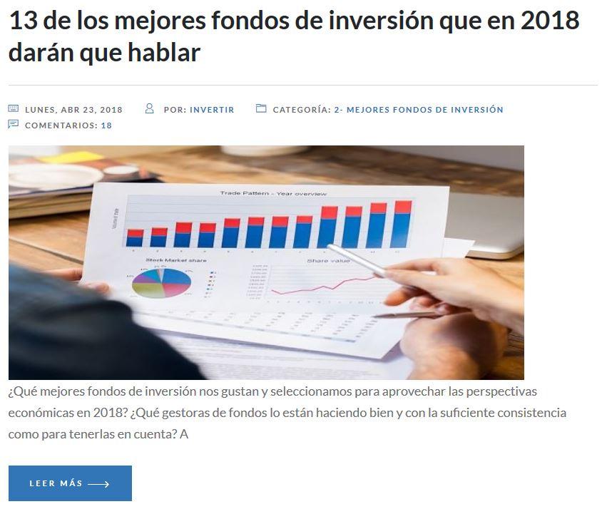 mejores fondos de inversion 2018