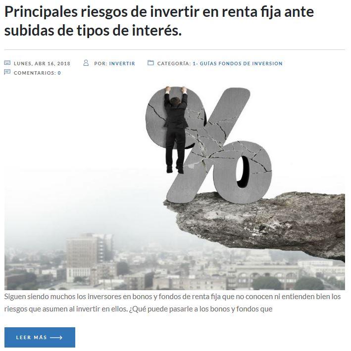 riesgos de invertir en fondos renta fija