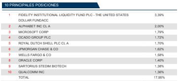riesgo fondos de inversion, cartera fidelity