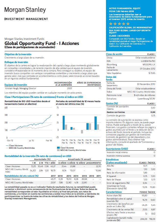 fondo morgan stanley global opportunity
