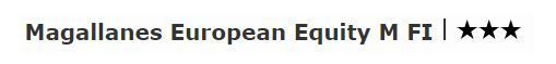 Magallanes European Equity morningstar