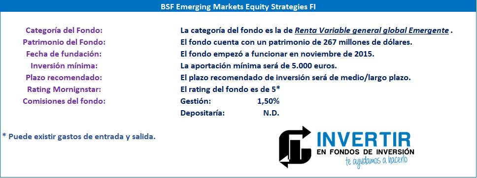 Datos fundamentales inversor BSF Emerging Markets Equity Strategies FI