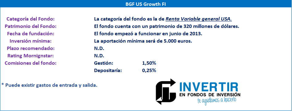 Datos fundamentales para el inversor y ficha de BGF US Growth FI