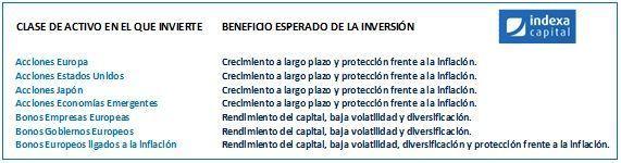 indexa capital cartera 6 objetivos