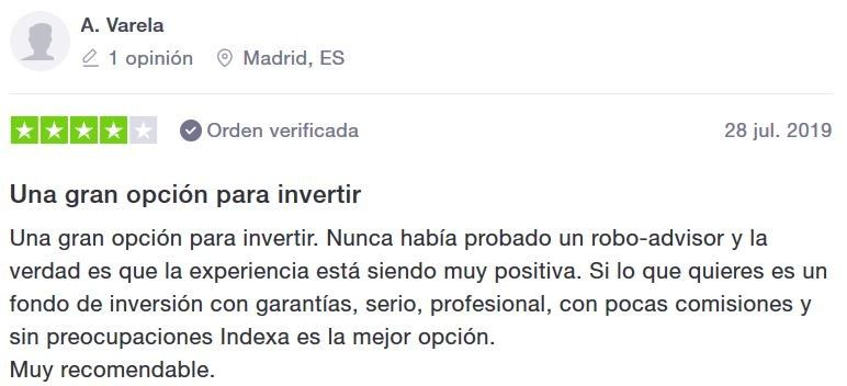 opinion de indexa capital, indexa capital opinion