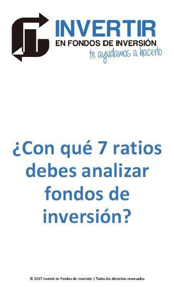 ratios para analizar fondos de inversion, buscador fondos de inversion, comparador fondos de inversion