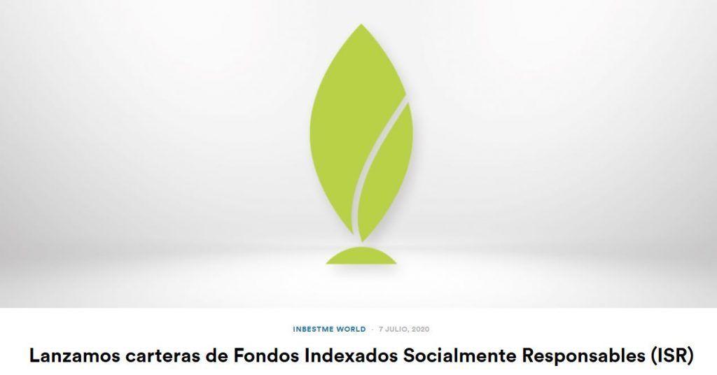 fondos socialmente responsables inbestme, fondos indexados socialmente responsables