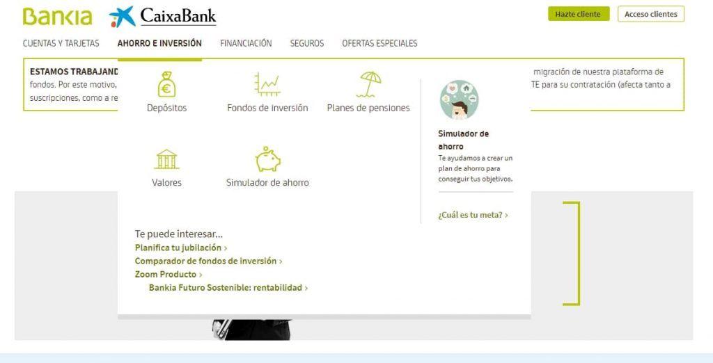 bankia caixabank fondos de inversión