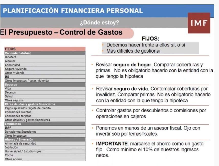 planificacion financiera, control de gastos e ingresos