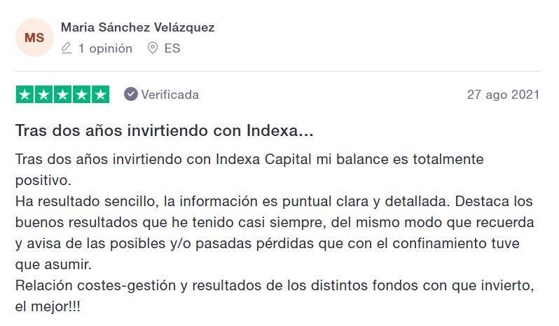opiniones indexa capital, testimonios indexa capital 2021